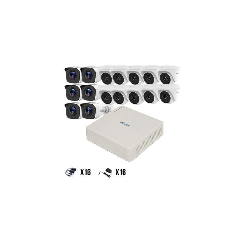 Kit 16 Cámaras TurboHD 720p HiLook by Hikvision